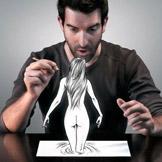Del Grosso既是一位插画师也是一位摄影师,于是他将插画和摄影融合,创作了以下神作。