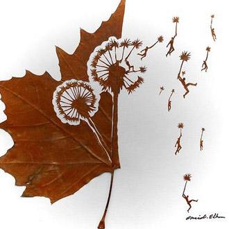 伊朗艺术家Omid Asadi的落叶雕刻作品,一起来欣赏吧!