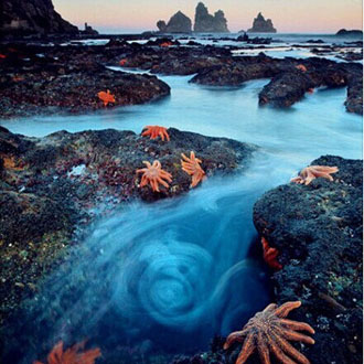 新西兰,南岛上的海星… 眩晕地是河流还是一缕蓝色轻烟?