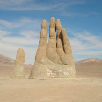 最干燥的地方:南美洲的阿塔卡马沙漠,每千年只有平均4英寸的降雨量。