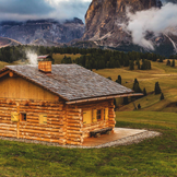 山中小屋,位于Seiser阿尔姆,意大利